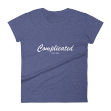 Complicated Women's Round Neck T-Shirt, Collection Nicknames-Heather Blue-S-Tamed Winds-tshirt-shop-and-sailing-blog-www-tamedwinds-com