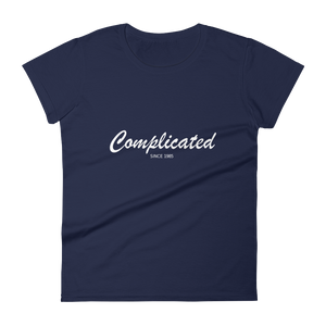 Complicated Women's Round Neck T-Shirt, Collection Nicknames-Navy-S-Tamed Winds-tshirt-shop-and-sailing-blog-www-tamedwinds-com