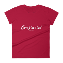 Complicated Women's Round Neck T-Shirt, Collection Nicknames-Red-S-Tamed Winds-tshirt-shop-and-sailing-blog-www-tamedwinds-com