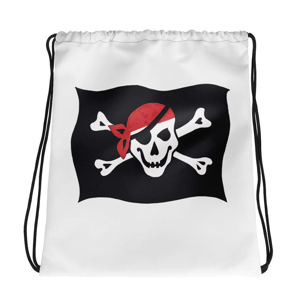 Courtesy Flag Drawstring Bag, Collection Ships & Boats-Tamed Winds-tshirt-shop-and-sailing-blog-www-tamedwinds-com