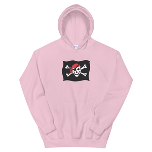 Courtesy Flag Unisex Hooded Sweatshirt, Collection Ships & Boats-Light Pink-S-Tamed Winds-tshirt-shop-and-sailing-blog-www-tamedwinds-com