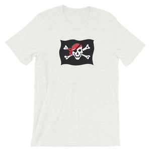 Courtesy Flag Unisex T-Shirt, Collection Ships & Boats-Ash-S-Tamed Winds-tshirt-shop-and-sailing-blog-www-tamedwinds-com