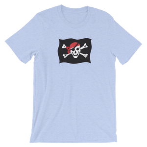 Courtesy Flag Unisex T-Shirt, Collection Ships & Boats-Heather Blue-S-Tamed Winds-tshirt-shop-and-sailing-blog-www-tamedwinds-com