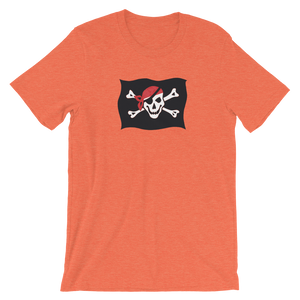 Courtesy Flag Unisex T-Shirt, Collection Ships & Boats-Heather Orange-S-Tamed Winds-tshirt-shop-and-sailing-blog-www-tamedwinds-com