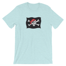 Courtesy Flag Unisex T-Shirt, Collection Ships & Boats-Heather Prism Ice Blue-XS-Tamed Winds-tshirt-shop-and-sailing-blog-www-tamedwinds-com