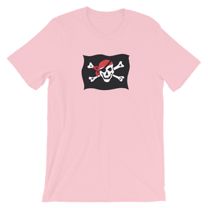 Courtesy Flag Unisex T-Shirt, Collection Ships & Boats-Pink-S-Tamed Winds-tshirt-shop-and-sailing-blog-www-tamedwinds-com
