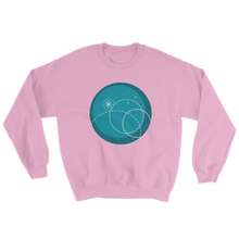 Deep Blue Unisex Crewneck Sweatshirt, Collection Fjaka-Light Pink-S-Tamed Winds-tshirt-shop-and-sailing-blog-www-tamedwinds-com