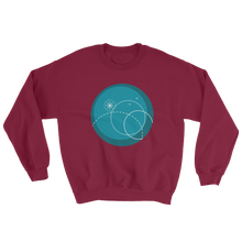 Deep Blue Unisex Crewneck Sweatshirt, Collection Fjaka-Maroon-S-Tamed Winds-tshirt-shop-and-sailing-blog-www-tamedwinds-com