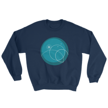 Deep Blue Unisex Crewneck Sweatshirt, Collection Fjaka-Navy-S-Tamed Winds-tshirt-shop-and-sailing-blog-www-tamedwinds-com