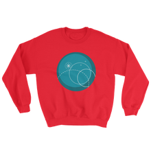 Deep Blue Unisex Crewneck Sweatshirt, Collection Fjaka-Red-S-Tamed Winds-tshirt-shop-and-sailing-blog-www-tamedwinds-com