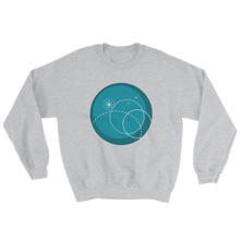 Deep Blue Unisex Crewneck Sweatshirt, Collection Fjaka-Sport Grey-S-Tamed Winds-tshirt-shop-and-sailing-blog-www-tamedwinds-com