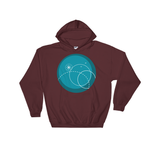 Deep Blue Unisex Hooded Sweatshirt, Collection Fjaka-Maroon-S-Tamed Winds-tshirt-shop-and-sailing-blog-www-tamedwinds-com