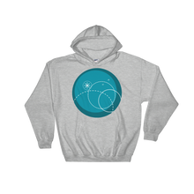 Deep Blue Unisex Hooded Sweatshirt, Collection Fjaka-Sport Grey-S-Tamed Winds-tshirt-shop-and-sailing-blog-www-tamedwinds-com