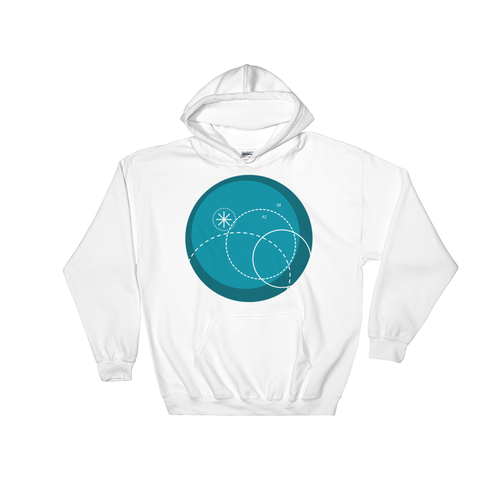 Deep Blue Unisex Hooded Sweatshirt, Collection Fjaka-White-S-Tamed Winds-tshirt-shop-and-sailing-blog-www-tamedwinds-com