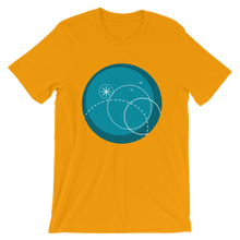 Deep Blue Unisex T-Shirt, Collection Fjaka-Gold-S-Tamed Winds-tshirt-shop-and-sailing-blog-www-tamedwinds-com