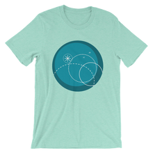 Deep Blue Unisex T-Shirt, Collection Fjaka-Heather Mint-S-Tamed Winds-tshirt-shop-and-sailing-blog-www-tamedwinds-com
