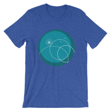Deep Blue Unisex T-Shirt, Collection Fjaka-Heather True Royal-S-Tamed Winds-tshirt-shop-and-sailing-blog-www-tamedwinds-com