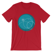Deep Blue Unisex T-Shirt, Collection Fjaka-Red-S-Tamed Winds-tshirt-shop-and-sailing-blog-www-tamedwinds-com