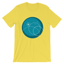 Deep Blue Unisex T-Shirt, Collection Fjaka-Yellow-S-Tamed Winds-tshirt-shop-and-sailing-blog-www-tamedwinds-com