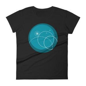 Deep Blue Women's Round Neck T-Shirt, Collection Fjaka-Black-S-Tamed Winds-tshirt-shop-and-sailing-blog-www-tamedwinds-com
