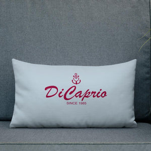 DiCaprio Light Grayish Blue Decorative Pillow, Collection Pirate Tales-Tamed Winds-tshirt-shop-and-sailing-blog-www-tamedwinds-com