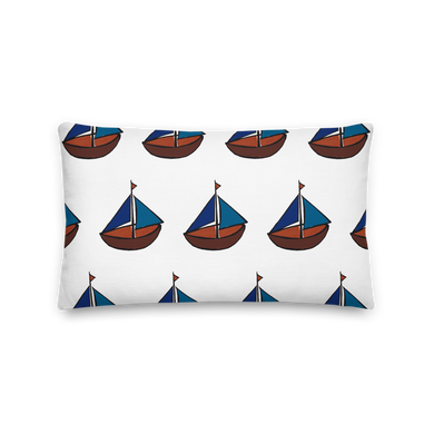 Dinghy Decorative Pillow, Collection Ships & Boats-Tamed Winds-tshirt-shop-and-sailing-blog-www-tamedwinds-com