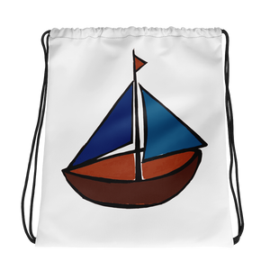 Dinghy Drawstring Bag, Collection Ships & Boats-Tamed Winds-tshirt-shop-and-sailing-blog-www-tamedwinds-com