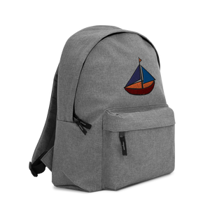 Dinghy Embroidered Backpack, Collection Ships & Boats-Tamed Winds-tshirt-shop-and-sailing-blog-www-tamedwinds-com