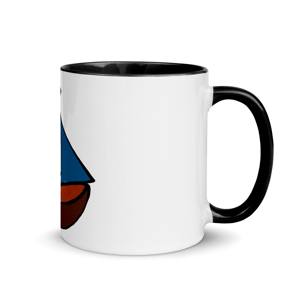 Dinghy Mug With Black Color Inside 325 ml, Collection Ships & Boats-Tamed Winds-tshirt-shop-and-sailing-blog-www-tamedwinds-com
