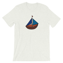 Dinghy Unisex T-Shirt, Collection Ships & Boats-Ash-S-Tamed Winds-tshirt-shop-and-sailing-blog-www-tamedwinds-com