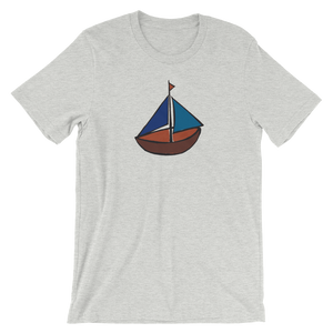 Dinghy Unisex T-Shirt, Collection Ships & Boats-Athletic Heather-S-Tamed Winds-tshirt-shop-and-sailing-blog-www-tamedwinds-com