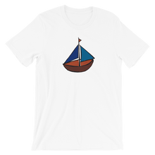 Dinghy Unisex T-Shirt, Collection Ships & Boats-White-XS-Tamed Winds-tshirt-shop-and-sailing-blog-www-tamedwinds-com