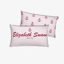 Elizabeth Swann Light Grayish Pink Decorative Pillow, Collection Pirate Tales-Tamed Winds-tshirt-shop-and-sailing-blog-www-tamedwinds-com