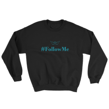 Follow Me Unisex Crewneck Sweatshirt, Collection Origami Boat-Black-S-Tamed Winds-tshirt-shop-and-sailing-blog-www-tamedwinds-com
