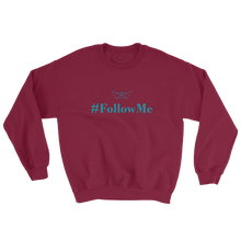 Follow Me Unisex Crewneck Sweatshirt, Collection Origami Boat-Maroon-S-Tamed Winds-tshirt-shop-and-sailing-blog-www-tamedwinds-com