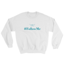 Follow Me Unisex Crewneck Sweatshirt, Collection Origami Boat-White-S-Tamed Winds-tshirt-shop-and-sailing-blog-www-tamedwinds-com