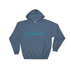 Follow Me Unisex Hooded Sweatshirt, Collection Origami Boat-Indigo Blue-S-Tamed Winds-tshirt-shop-and-sailing-blog-www-tamedwinds-com
