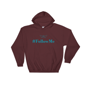 Follow Me Unisex Hooded Sweatshirt, Collection Origami Boat-Maroon-S-Tamed Winds-tshirt-shop-and-sailing-blog-www-tamedwinds-com