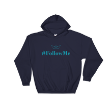 Follow Me Unisex Hooded Sweatshirt, Collection Origami Boat-Navy-S-Tamed Winds-tshirt-shop-and-sailing-blog-www-tamedwinds-com