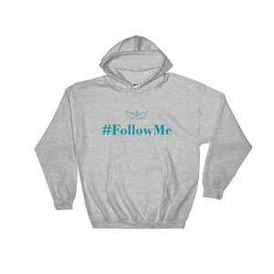 Follow Me Unisex Hooded Sweatshirt, Collection Origami Boat-Sport Grey-S-Tamed Winds-tshirt-shop-and-sailing-blog-www-tamedwinds-com