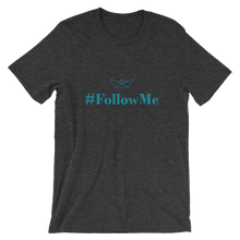 Follow Me Unisex T-Shirt, Collection Origami Boat-Dark Grey Heather-S-Tamed Winds-tshirt-shop-and-sailing-blog-www-tamedwinds-com