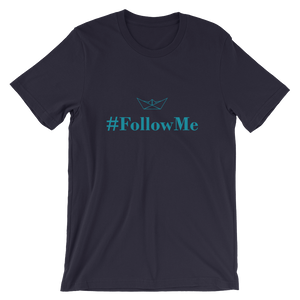Follow Me Unisex T-Shirt, Collection Origami Boat-Navy-S-Tamed Winds-tshirt-shop-and-sailing-blog-www-tamedwinds-com