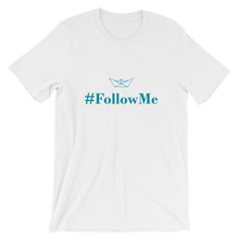 Follow Me Unisex T-Shirt, Collection Origami Boat-White-S-Tamed Winds-tshirt-shop-and-sailing-blog-www-tamedwinds-com