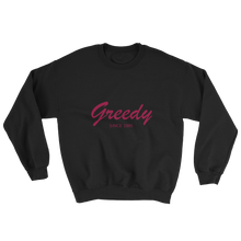 Greedy Unisex Crewneck Sweatshirt, Collection Nicknames-Black-S-Tamed Winds-tshirt-shop-and-sailing-blog-www-tamedwinds-com
