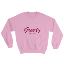 Greedy Unisex Crewneck Sweatshirt, Collection Nicknames-Light Pink-S-Tamed Winds-tshirt-shop-and-sailing-blog-www-tamedwinds-com