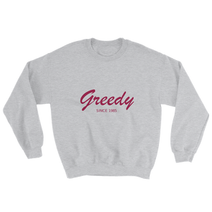 Greedy Unisex Crewneck Sweatshirt, Collection Nicknames-Sport Grey-S-Tamed Winds-tshirt-shop-and-sailing-blog-www-tamedwinds-com