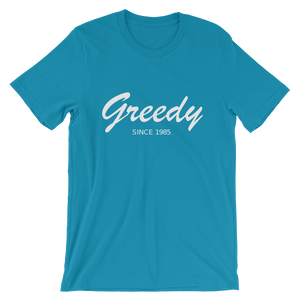 Greedy Unisex T-Shirt, Collection Nicknames-Aqua-S-Tamed Winds-tshirt-shop-and-sailing-blog-www-tamedwinds-com