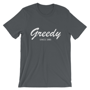 Greedy Unisex T-Shirt, Collection Nicknames-Asphalt-S-Tamed Winds-tshirt-shop-and-sailing-blog-www-tamedwinds-com