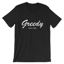 Greedy Unisex T-Shirt, Collection Nicknames-Black-S-Tamed Winds-tshirt-shop-and-sailing-blog-www-tamedwinds-com