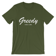 Greedy Unisex T-Shirt, Collection Nicknames-Olive-S-Tamed Winds-tshirt-shop-and-sailing-blog-www-tamedwinds-com